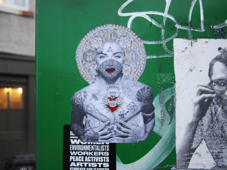 Rey Midax wheatpaste in Mile End