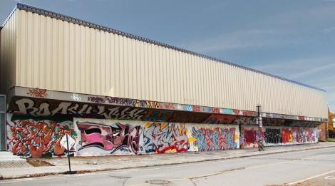 PSC legal graffiti wall