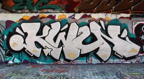 Kwun at the PSC legal graffiti wall