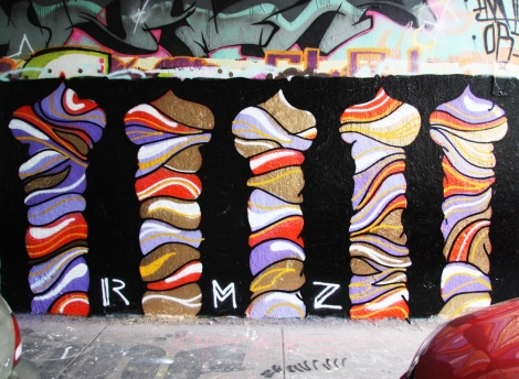 RMZ(?) on the Rouen tunnel legal graffiti wall