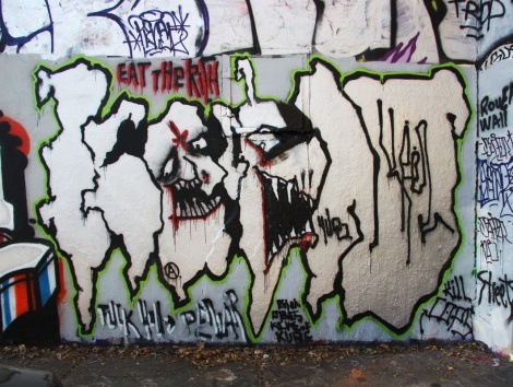 Kelen at the Rouen legal graffiti tunnel