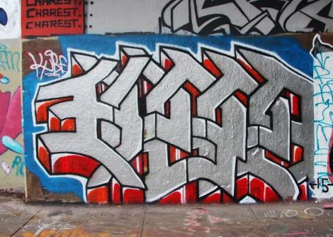 Kube at the Rouen legal graffiti tunnel