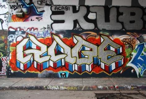 Kube at the legal graffiti tunnel on de Rouen