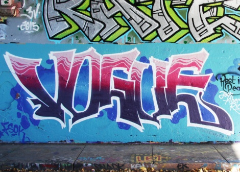 Vogue at the Rouen legal graffiti tunnel