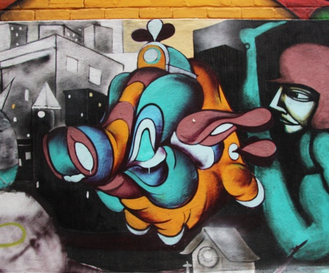 detail by Gawd from a mural in the Plateau by Labrona with Gawd and Alex Produkt