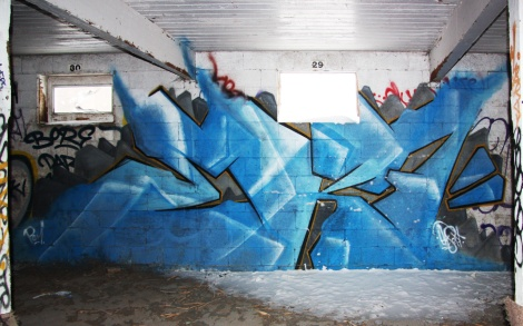 EK7 piece at the abandoned Montreal Hippodrome
