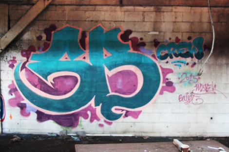 Someone representing the SB Crew in the abandoned Transco