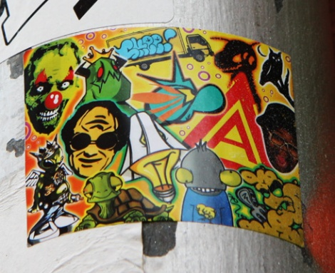 Collaboration sticker between Lites, Kone, 6ara9e, etc.