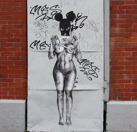 Miss Me wheatpaste