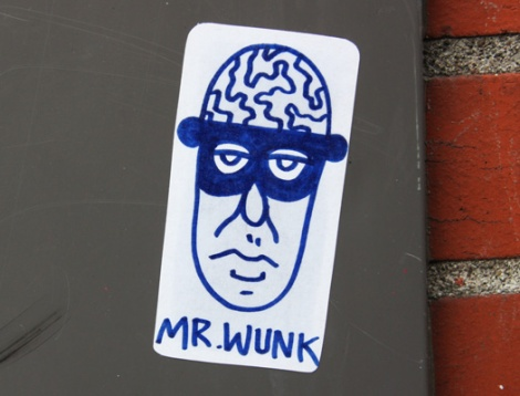 Mr Wunk sticker
