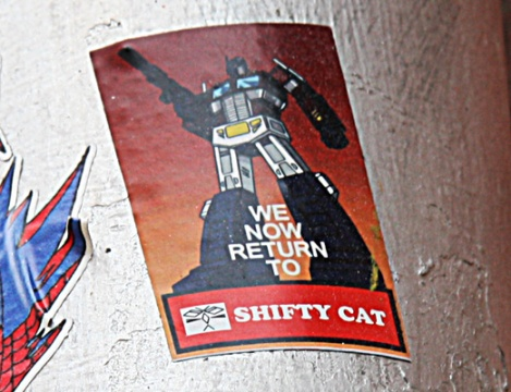 Shifty Cat sticker