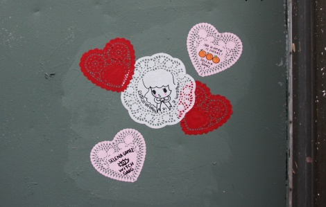 pasted doilies by Stela