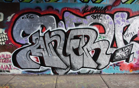 Aner at the Rouen legal graffiti wall