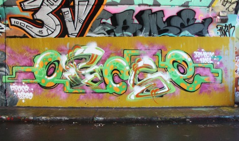 Escro at the Rouen legal graffiti wall