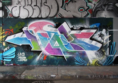 Haks at the Rouen legal graffiti wall