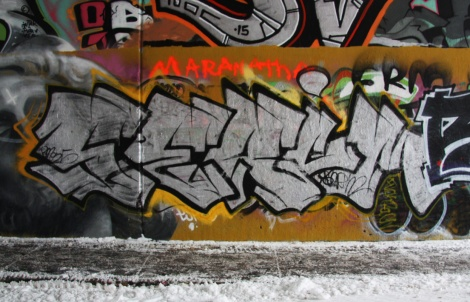 Serum at the Rouen legal graffiti tunnel