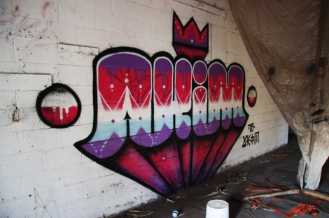 Akim piece at the abandoned Montreal Hippodrome