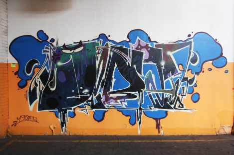 Debza piece in the abandoned Transco