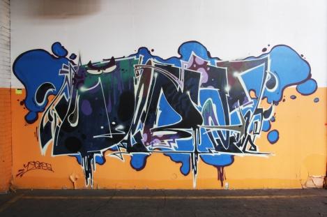 Debza piece in the abandoned Transco