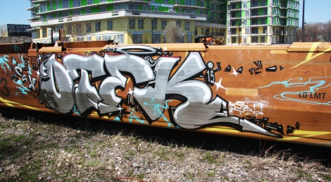 Otek piece on train