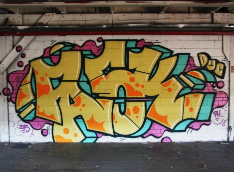 Pask piece in the abandoned Transco