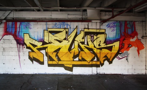 Rouks piece in the abandoned Transco