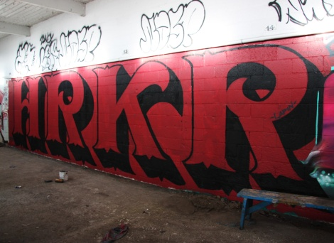 HRKR in an abandoned building