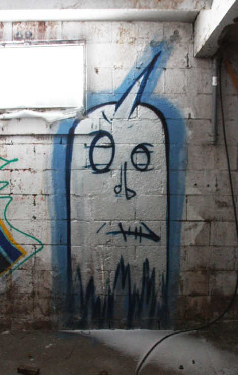 Unknown artist in the abandoned Montreal Hippodrome
