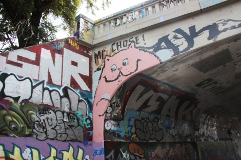 Mr Chose at the Rouen legal graffiti tunnel
