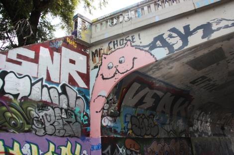 Mr Chose at the Rouen legal graffiti tunnel
