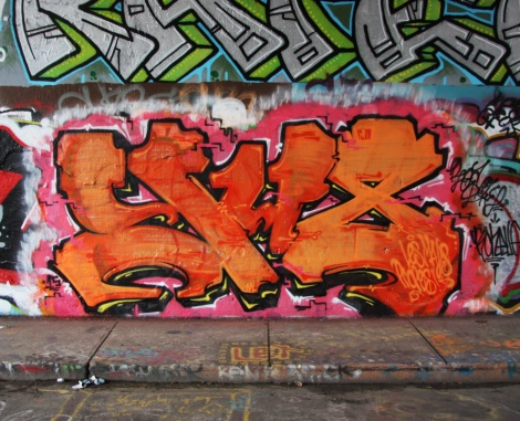 Someone representing the YU8 crew at the Rouen legal graffiti tunnel