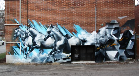 Zek wall in Monkland Village