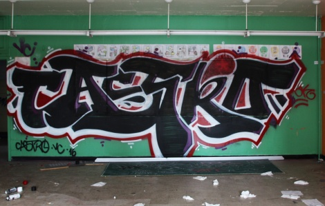 Castro graffiti piece found in an abandoned school