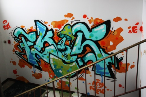 Ekes graffiti piece found in the abandoned Transco
