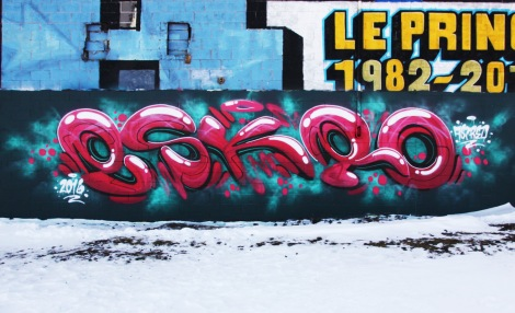 Eskro graffiti piece found in Rosemont
