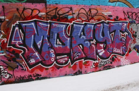 Mokyt piece found in the alley between St-Laurent and Clark