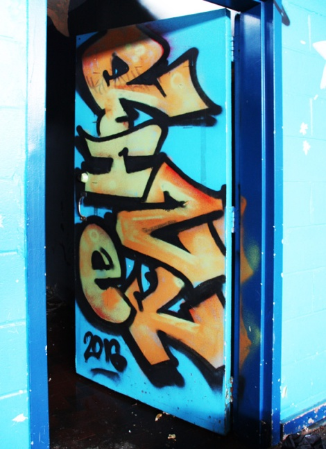 Rizek graffiti piece found in urbex