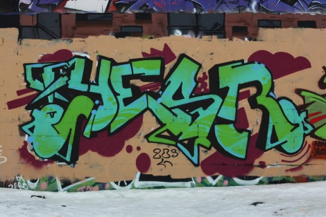 Yesir graffiti piece found in urbex