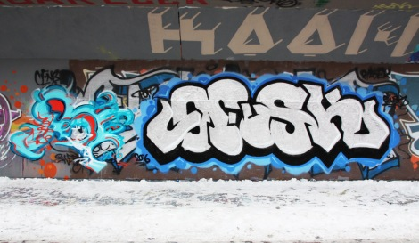 Cens (left) and Fokus (right) found at the PSC legal graffiti wall