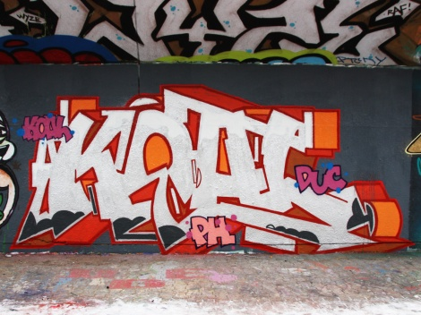 Koal at the PSC legal graffiti wall