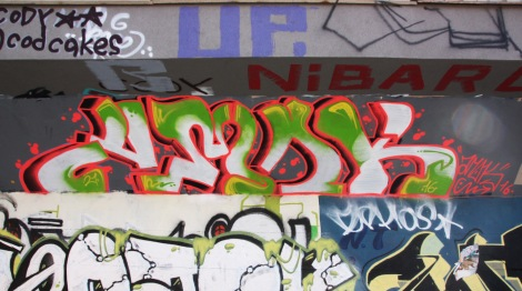 Amok at the PSC legal graffiti wall