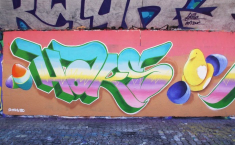 Easter piece by Haks at the PSC legal graffiti wall