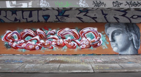 Eskro (left) and Apok (right) at the PSC legal graffiti wall