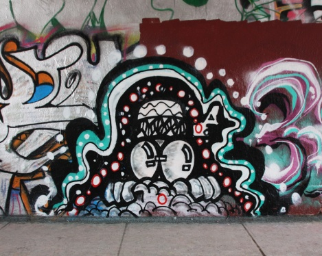 Alboe from New York at the Rouen legal graffiti tunnel