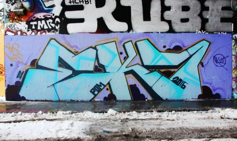 EK7 at the Rouen legal graffiti tunnel