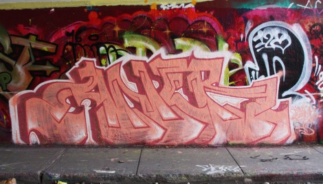 Aner at the Rouen legal graffiti tunnel