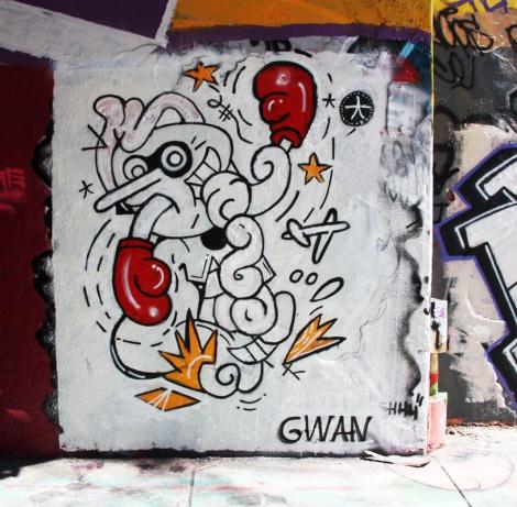 Gwan at the Rouen legal graffiti tunnel