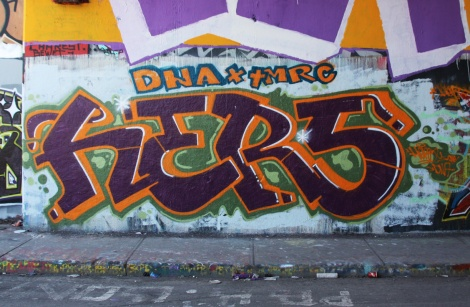 Hers at the Rouen legal graffiti tunnel