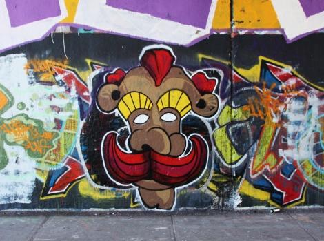 unidentified artist at the Rouen legal graffiti tunnel