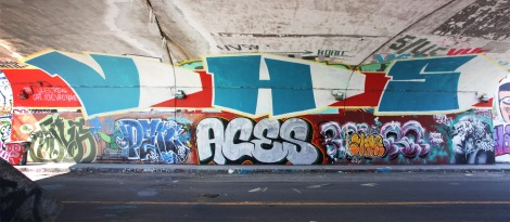 Vapo and Acro representing the VHS crew at the top, plus Saner, Penar, Aces, Slake over Eskro and Apok at ground level